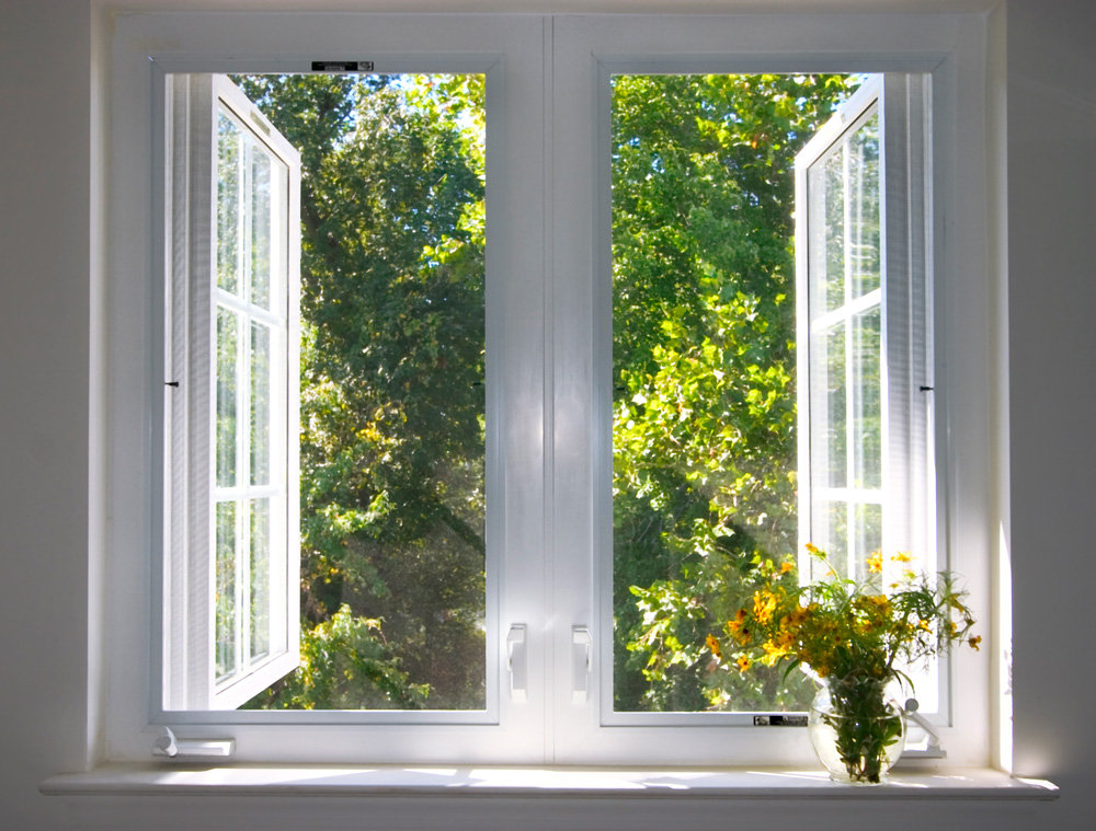 Window showing clean fresh air