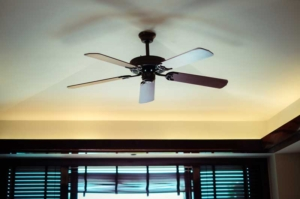 ceiling fan showing that the direction of your ceiling fan can make a difference in the temperature of your home