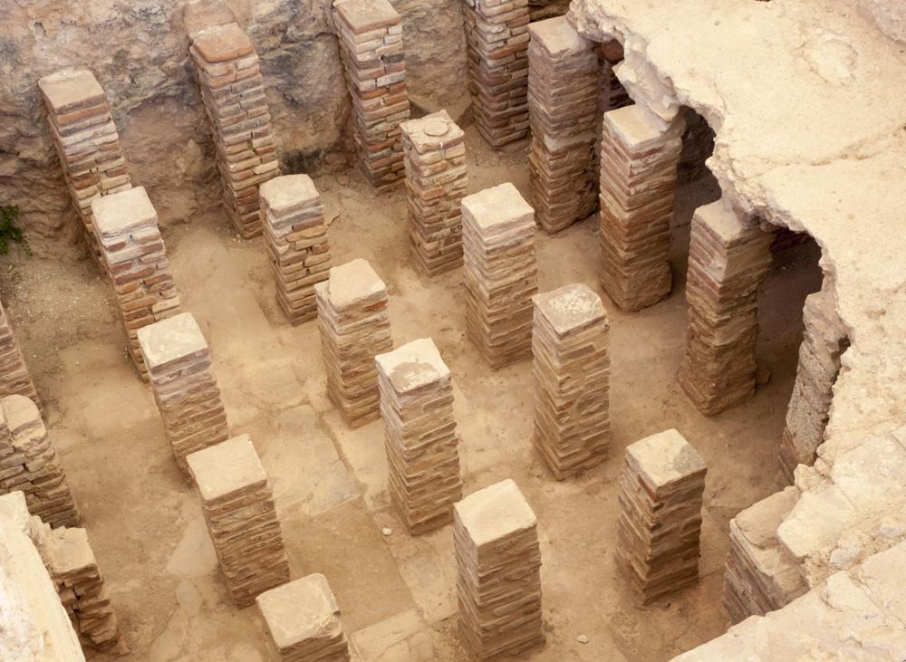 Ruins of a roman hypocaust.