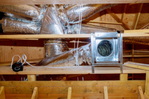 duct work in an attic space
